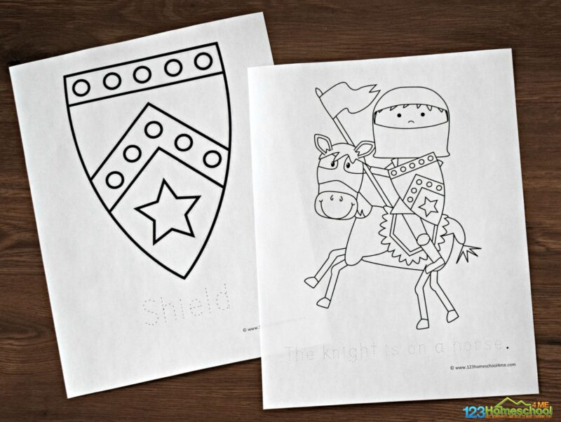 knight-coloring-pages