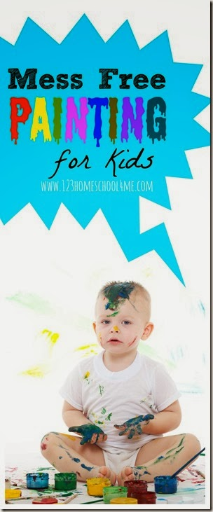 Mess Free Painting for Kids - This is such a fun, clever and unique way for babies, toddlers, and preschoolers to paint WITHOUT the mess!!