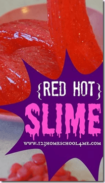 Red Hot Valentine Slime for Kids