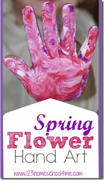 Spring Flower Hand Art for Kids