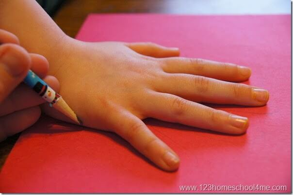 trace your childs hand