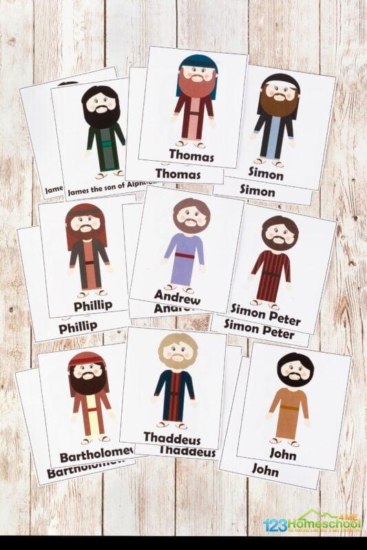 twelve disciples printables