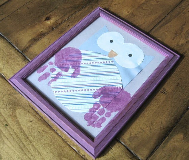 owl handprint craft for valentines day