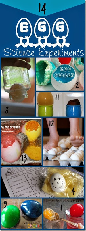 14 Amazing Egg Science Experiments for Kids perfect for Easter Spring or Homeschool