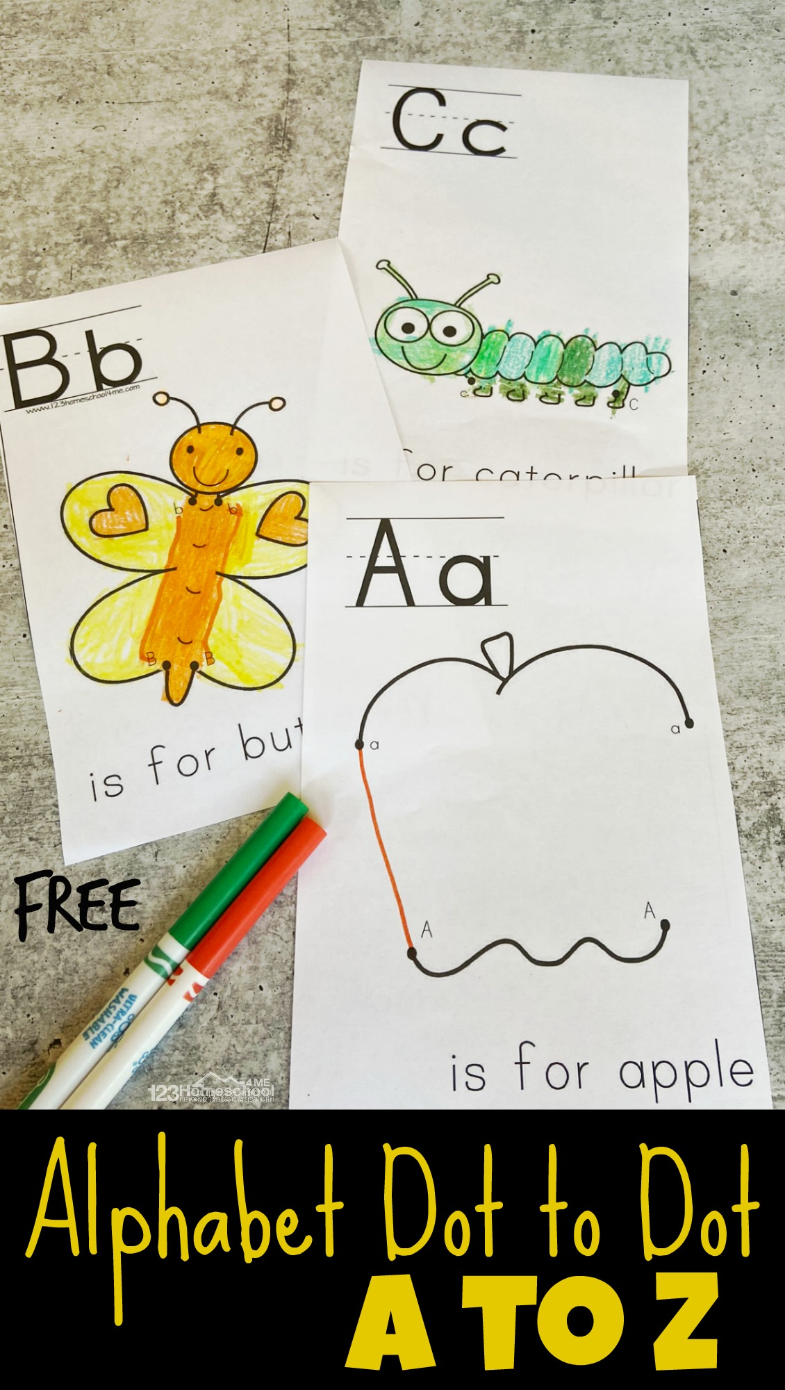 Free Printable Abc Alphabet Dot To Dot Worksheets From A To Z