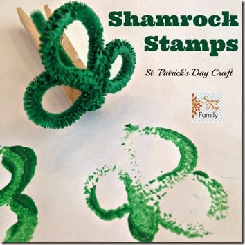 DIY Shamrock Stamp Craft for Kids