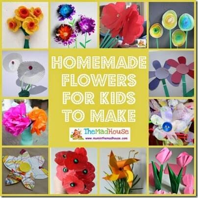Homemade Flower Crafts for Kids