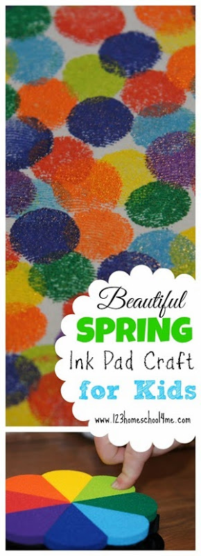 Kids will love making this beautiful spring craft for toddlers! All you need are stamp ink pads and paper and you are ready to create some beautiful spring arts and crafts for children of all ages from toddler, preschool, pre-k, kindergarten, first grade, 2nd grade, 3rd grade, and 4th grade children. This prettyspring art for toddlers allows kids to create flowers, butterflies, Easter cross, butterflies, or any other spring item they can dream up! I love that the images captures my kids and their beautiful finger prints to create a true, one-of-a-kindspring craft ideas for toddlers.