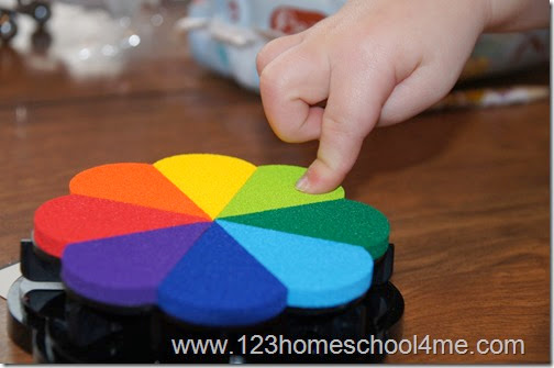 Use a BIG rainbow ink pad for this beautiful craft for kids