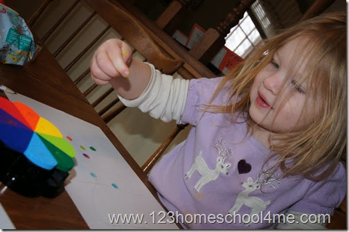 kids love making a colorful picture with their fingers
