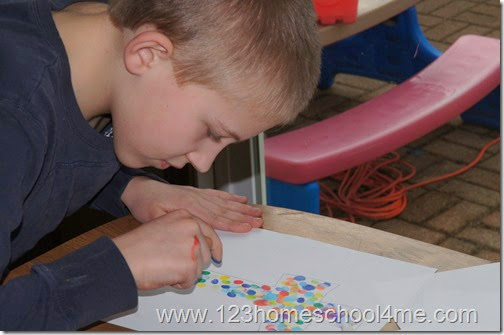 Beautiful Finger Art craft for elementary kids this spring