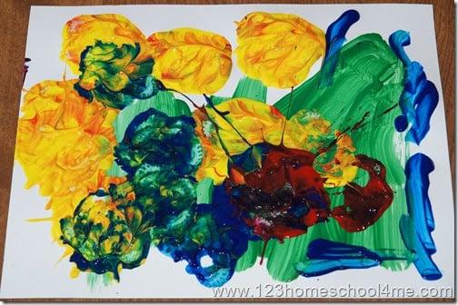 Celery Stamping for Preschoolers