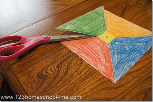 Simple Paper Pinwheel Craft for Kids