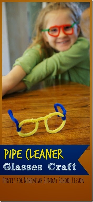 These super cute and fun-to-make pipe cleaner glasses craft would be fun for toddler, preschool, pre-k, kindergarten, first grade, 2nd grade, and 3rd grade children as silly all about me craft, eyes craft, or as part of a Nehemiah Sunday School Craft. Don't worry, it is really easy! Let us show youhow to make glasses out of pipe cleanerswith step-by-step pictures and easy to understand directions.