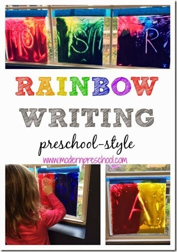 Rainbow Writing Activity for Toddler Preschool Kindergarten
