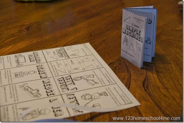 Simple Machines Booklet for Homeschool Science Kindergarten-5th grade