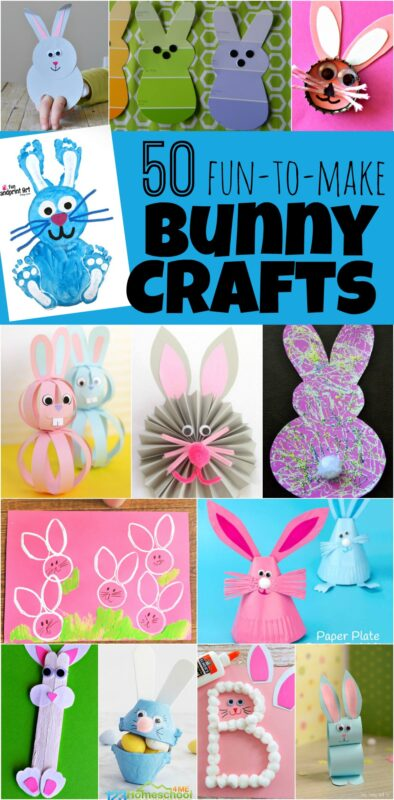50 Bunny Crafts For Kids 123 Homeschool 4 Me