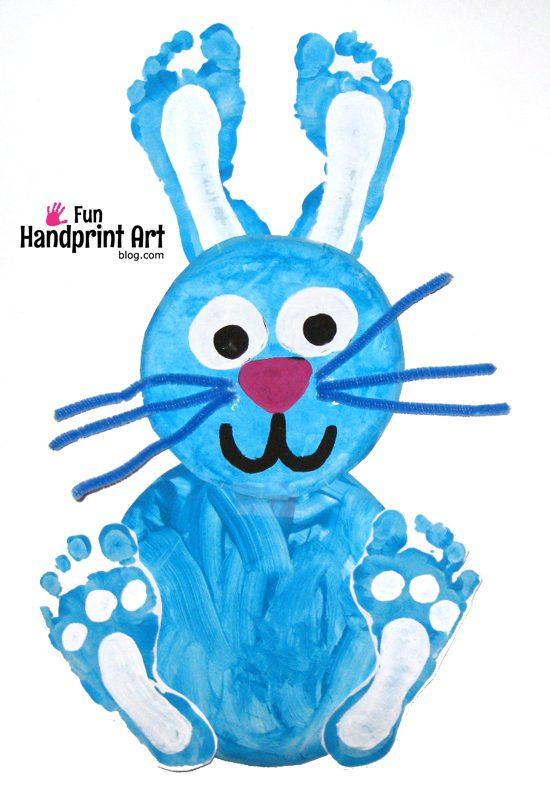 bunny-foot-art-craft