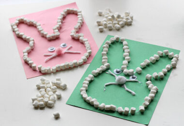 Marshmallow Bunny Craft for Kids
