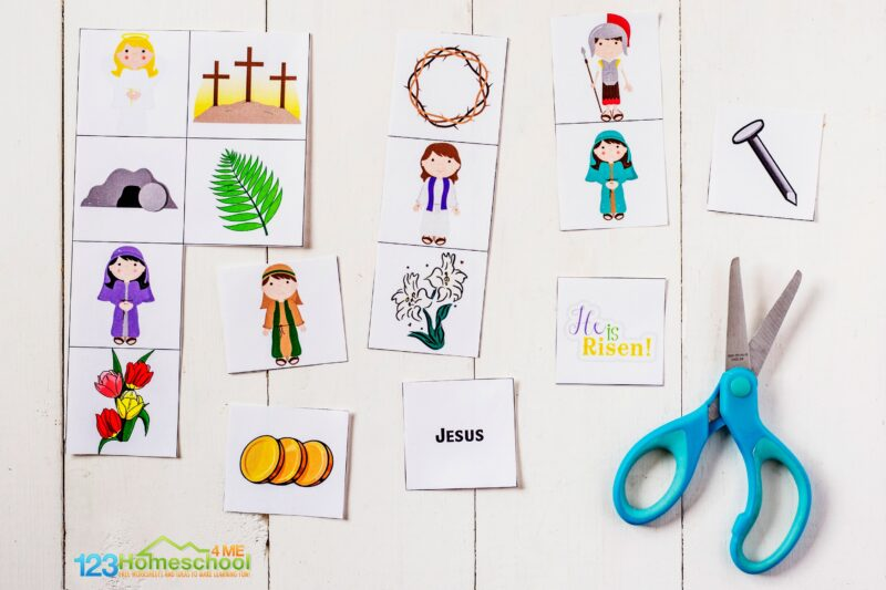 easter bingo cards for sunday school