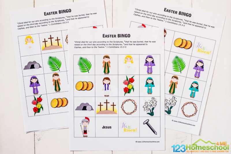 Easter printables to help toddler, preschool, pre k, kindergarten, first grade, 2nd grade, and 3rd grade students work on visual discrimination as a fun easter activity for kids in april