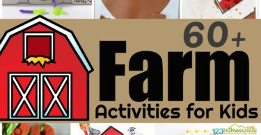 Tons of creative farm activities and farm crafts for kids of all ages