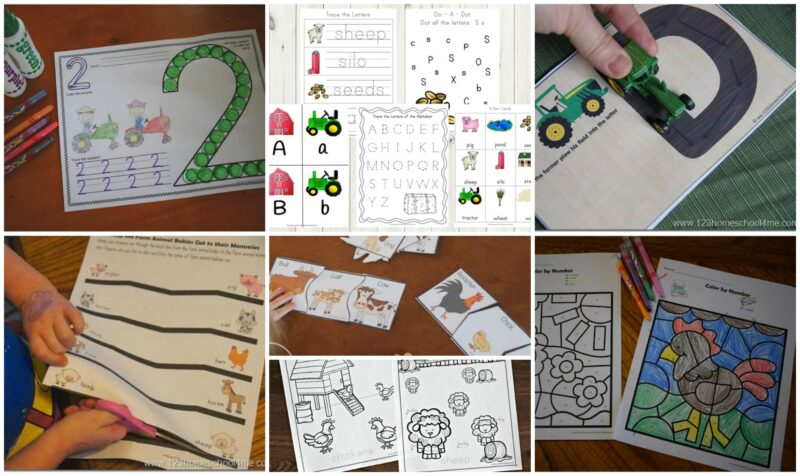 Tons of super cute farm printables