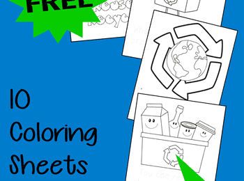 Earth Day Coloring Sheets for Kids