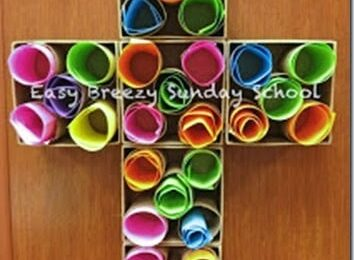 Prayer Cross Craft for Kids