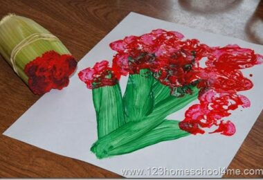 Painting Spring Flowers with Celery