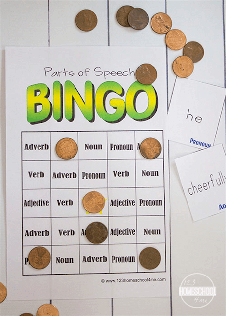 FREE Parts of Speech BINGO