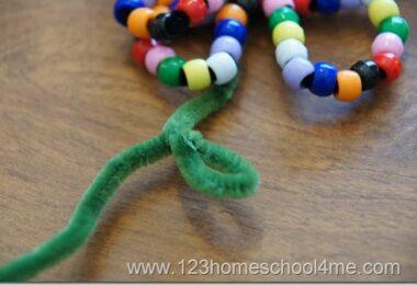 Fine Motor Bead Flower Craft for Kids