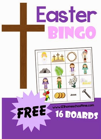photograph about Free Printable Easter Cards Religious known as Cost-free Easter BINGO Sport 123 Homeschool 4 Me