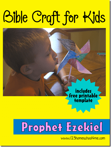 Prophet Ezekiel Bible Craft for Kids - This is a simple paper craft for Kindergarten - 4th graders that is great for Sunday School Lessons or a fun spring craft for kids.
