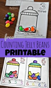 counting jelly beans printable