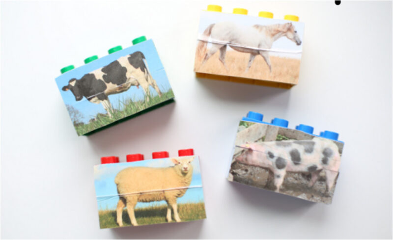 Kids will have fun matching up animals with this lego farm animal puzzles