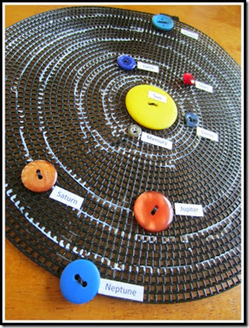Solar System Button Craft