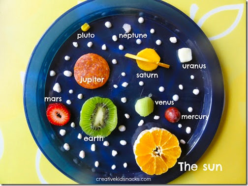 Make the solar Sytem out of food
