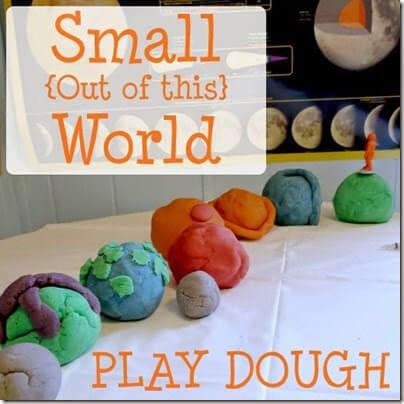 make a solar system out of playdough