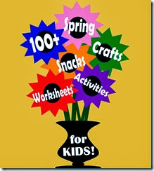 100+ Spring Crafts for Kids and Kids Activities including flower and rainbows