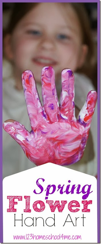 Here is a really funspring flower art projects for kids to make. Flower Crafts are so pretty and such a fun way to celebrate the arrival of spring! This If you make it on canvas is makes a lovely childhood keepsake or Mothers Day Gift. This project can be child-led and simple or directed to make it more polishedflower crafts for preschoolers.Either way thishandprint art ideas is such a funspring art project for preschool, toddler, pre-k, kindergarten, and first grade students.