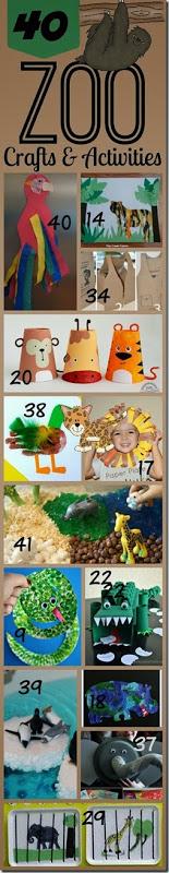 40 Zoo Animal Crafts and Activities for Toddler Preschool Kindergarten and beyond