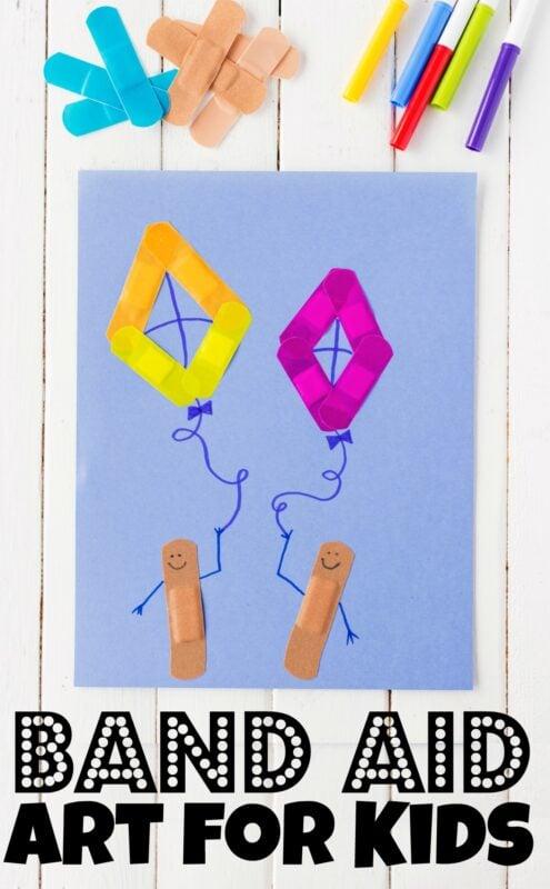 Fun Bandaid Art Projects. #bandaidprojects #bandaidcrafts #bandaidartprojects #freehomeschooldeals #fhdhomeschoolers