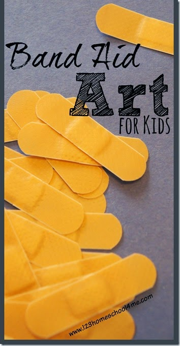 "Band Aid Art is super fun Craft for Kids where their creativity can ""sore"". It is also great for a Sunday School Lessons on Jesus Heals. #crafts #bandaid #sundayschool"