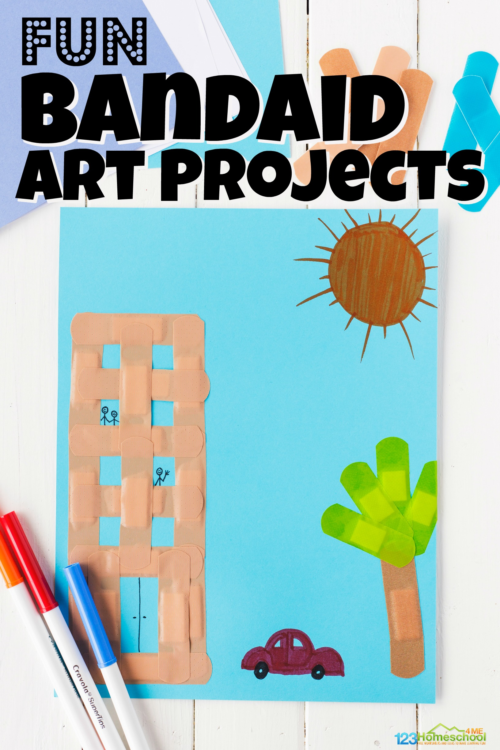 Whether you are having a doctor theme preschool unit, talking about germs, community helper activity, or are just looking for a fun and silly craft for kids, you will love this band aid art project for toddler, preschool, pre-k, kindergarten, first grade, and 2nd grade children. You are going to love this really fun, creative craft for kids!