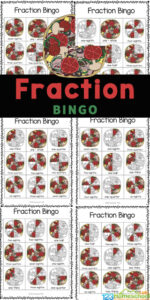 Make practicing fractions fun with this super cute, free printable Fraction Bingo. This pizza fractions is a fun fraction game for kids in first grade, 2nd grade, 3rd grade, and fourth graders too. This pizza fraction game can be played with just one child or a group of 20 students in the classroom to practice fractions with a fun twist! Simply print the pizza printables pdf file and you are ready to play and learn fractions for kids.