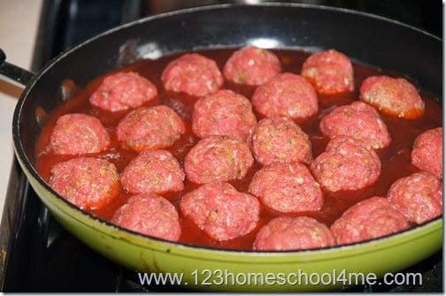 cook meatballs in sauce