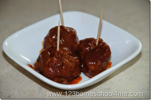 serve party meatballs on toothpicks