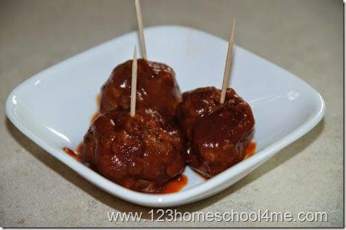 serve party meatballs on toothpicks