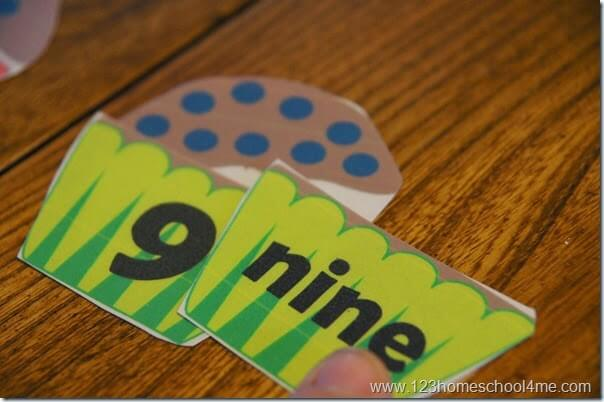 Learning Number Words for Preschool Kindergarten 1st Grade